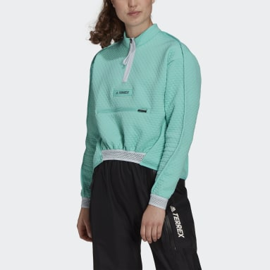 Women's TERREX Green Terrex Hike 1/2 Zip Fleece