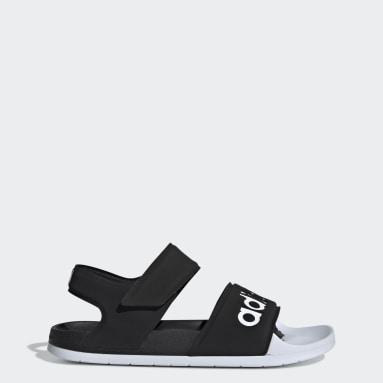 Swimming Black Adilette Sandals
