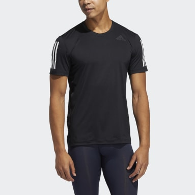 Men Training Black Techfit 3-Stripes Fitted Tee