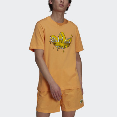Men Originals Orange Lemon Trefoil Tee