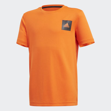 Boys Studio Orange AEROREADY Tee