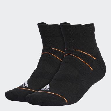 Men Golf Black Mesh Ankle Socks 2 Pairs