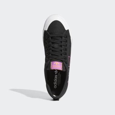Originals Zwart Nizza Trefoil Schoenen
