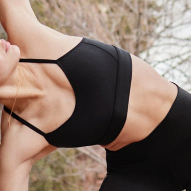 ผู้หญิง เทรนนิง สีดำ บราซัพพอร์ตระดับต่ำ Karlie Kloss