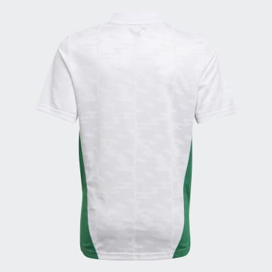 Youth 8-16 Years Football White Algeria 20/21 Home Jersey