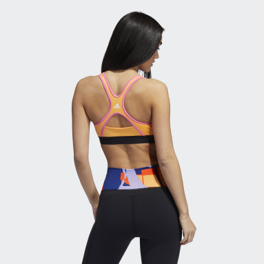 Gym & Training Orange adidas Love Unites Believe This 2.0 Graphic Bra