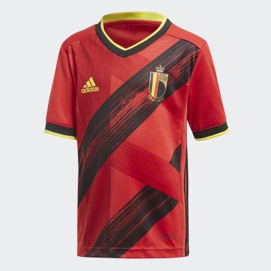 Mini kit Belgique Domicile Rouge Enfants Football