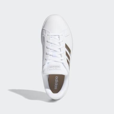 Kadın Sport Inspired Beyaz Grand Court Base Ayakkabı