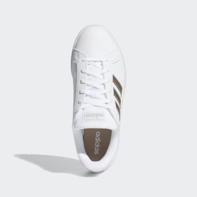 Tenis Grand Court Base Blanco Mujer Essentials
