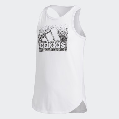 Youth Training White Tulip Tank Top