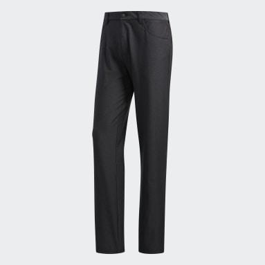 Men's Golf Black Ultimate365 Heathered Five-Pocket Pants
