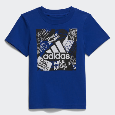 Infant & Toddler Training Blue Graphic Tee and Shorts Set