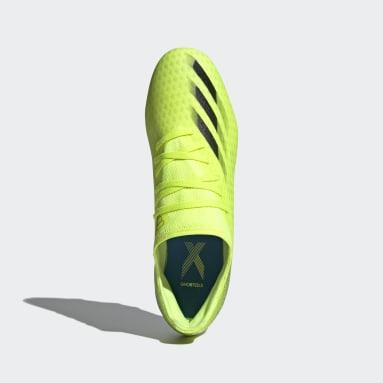 Bota de fútbol X Ghosted.3 césped natural seco Amarillo Fútbol
