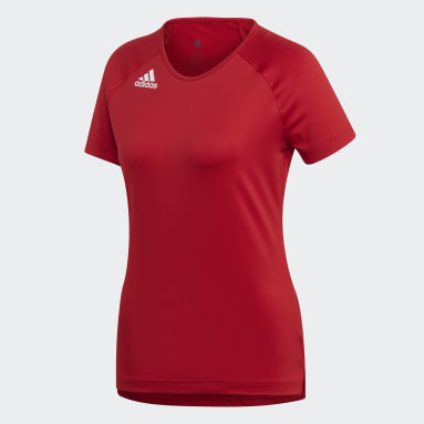 Women's Volleyball Red Hi Lo Jersey