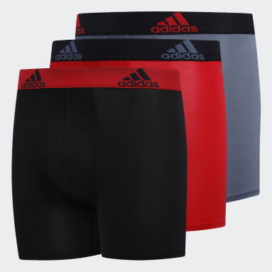 Children Training Black Sport Performance Climalite Boxer Briefs 3 Pairs