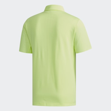Men Golf Yellow Climacool Polo Shirt