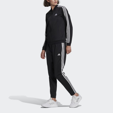 Dames Sportswear zwart Essentials 3-Stripes Trainingspak