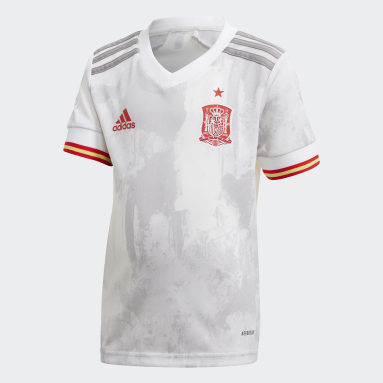 Kinderen Voetbal wit Spanje Mini-Uittenue