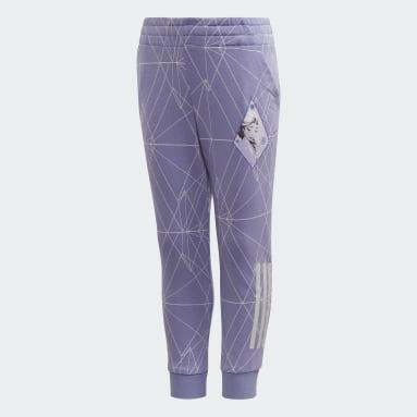 Girls Training Purple Frozen 2 Slim Leg Pants