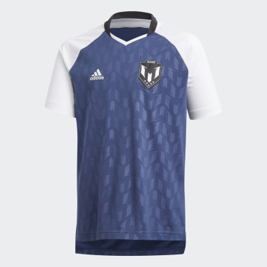 Genç Training Mavi Messi Icon Forma Tişört