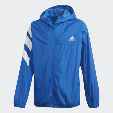 Boys Training Blue XFG Must Haves Windbreaker