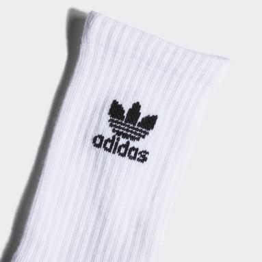 Chaussettes Trefoil Crew Socks (6 paires) blanc Adolescents Originals