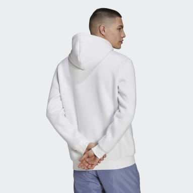 Men Originals White Adicolor Essentials Trefoil Hoodie