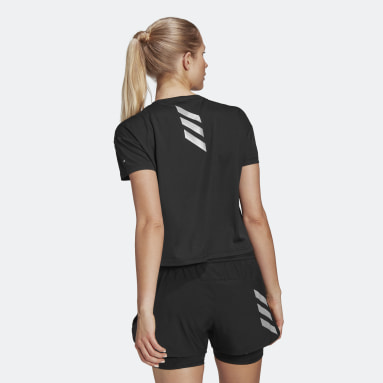 Women Running Black Fast Primeblue Tee