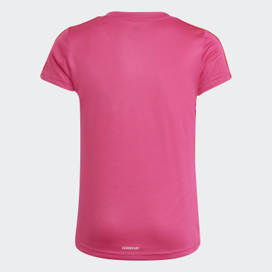 Youth Training Pink Designed 2 Move 3-Stripes Tee