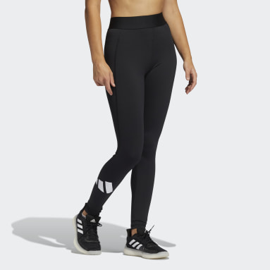 Women Winter Sports Black Techfit Life Mid-Rise Badge of Sport Long Leggings