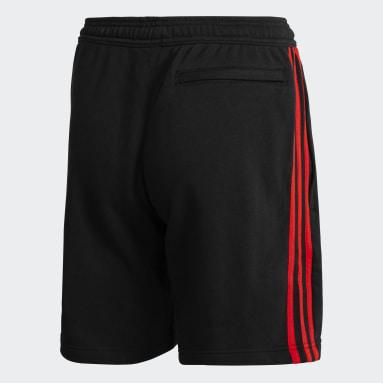 Shorts 3 Tiras River Plate Negro Hombre Fútbol