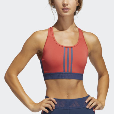 Women Training Red Don't Rest 3-Stripes Bra