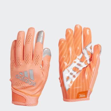 Men's Football Orange Adizero 11 Turbo Gloves