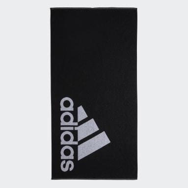 Udendørshockey Sort adidas håndklæde, stort