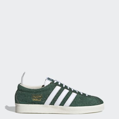 Dames Originals Groen Gazelle Vintage Schoenen