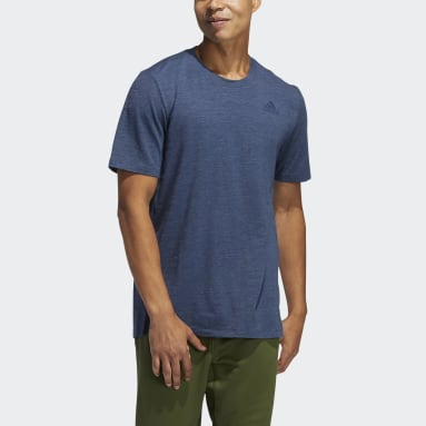 Men Gym & Training Blue City Elevated Tee