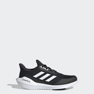 Children Running Black EQ21 Run Shoes
