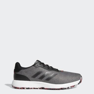 Men's Golf Grey S2G Spikeless Wide Golf Shoes
