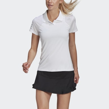 Women Tennis White Club Tennis Polo Shirt