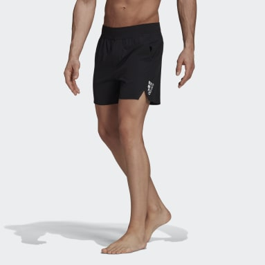 Men Swimming Black Zip Pocket Swim Shorts