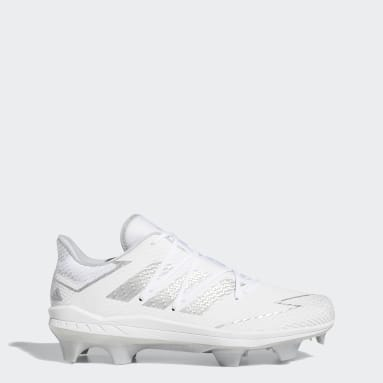 Men's Baseball White Adizero Afterburner 7 Pro TPU Cleats