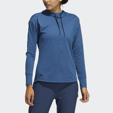 Women Golf Blue Essentials Primegreen Heathered Hoodie