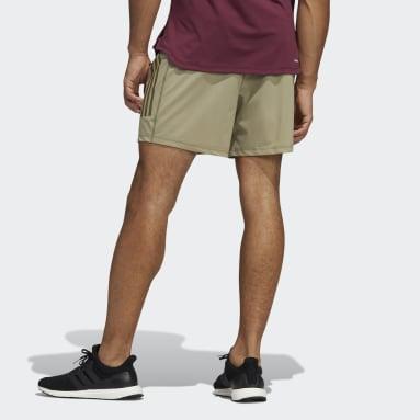 Men Studio Green Warp Knit Yoga Shorts