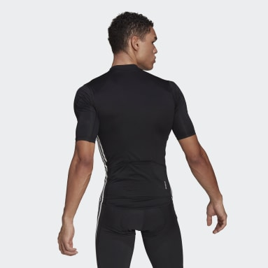 Men Cycling Black The Short Sleeve Cycling Jersey