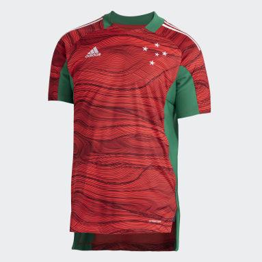 Camisa Goleiro 1 Cruzeiro 21/22 Vermelho Homem Futebol