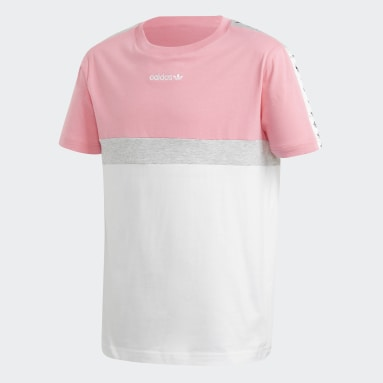 Youth 8-16 Years Originals Pink Tape Y Block T-Shirt