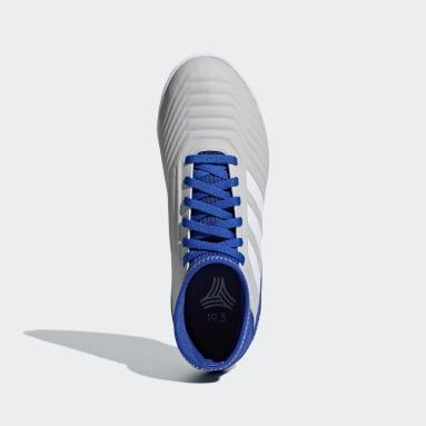Calzado de Fútbol Predator Tango 19.3 Bajo Techo (UNISEX) Gris Niño Fútbol