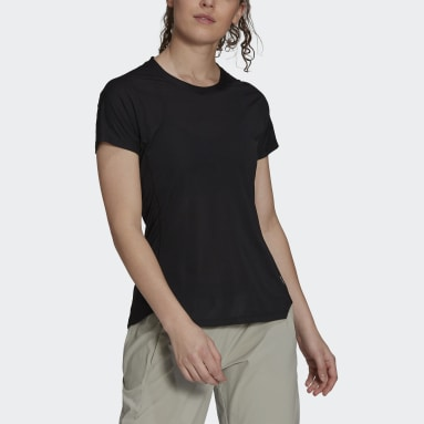 Women's Trail Running Black Agravic Trail All-Around Parley Tee