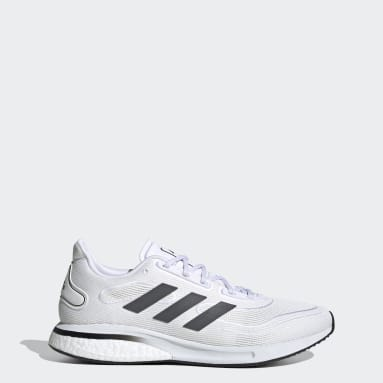 Men Running White Supernova Shoes