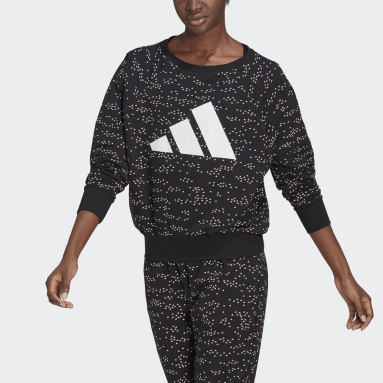 Women Sportswear Black adidas Sportswear Winners Badge of Sport Crew Sweatshirt